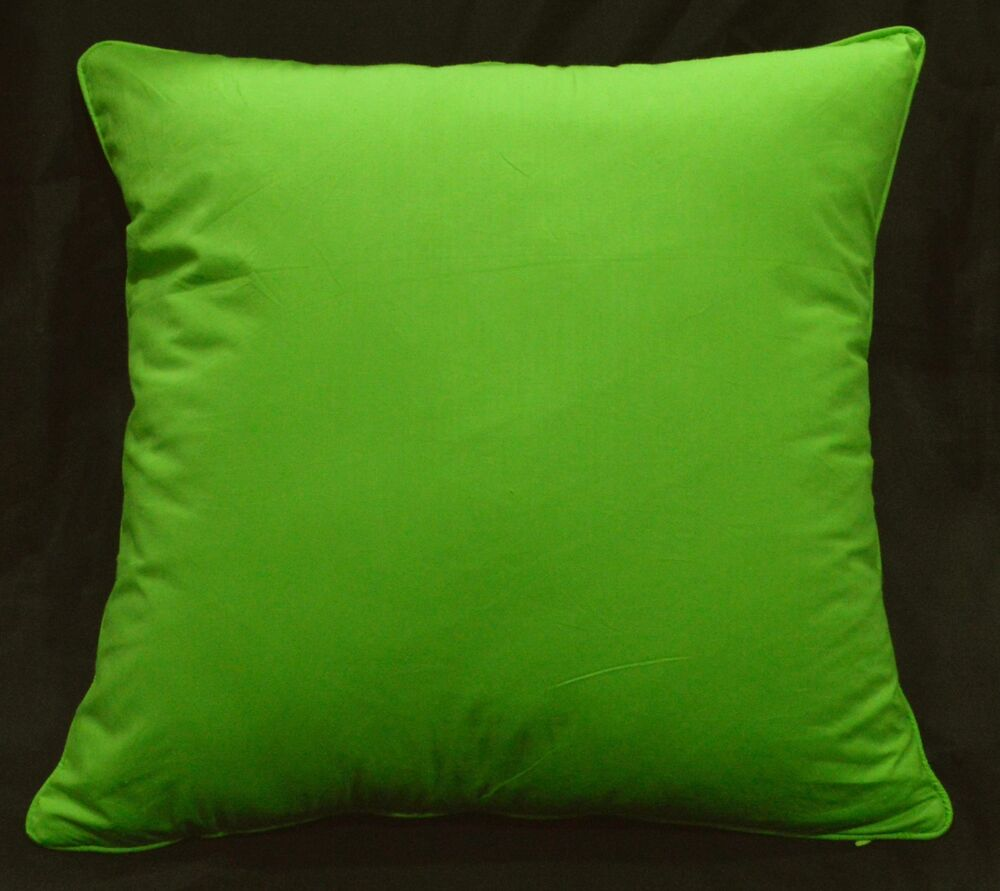 Rc401a Lime Bud Green Soft Cotton Fabric Cushion Cover