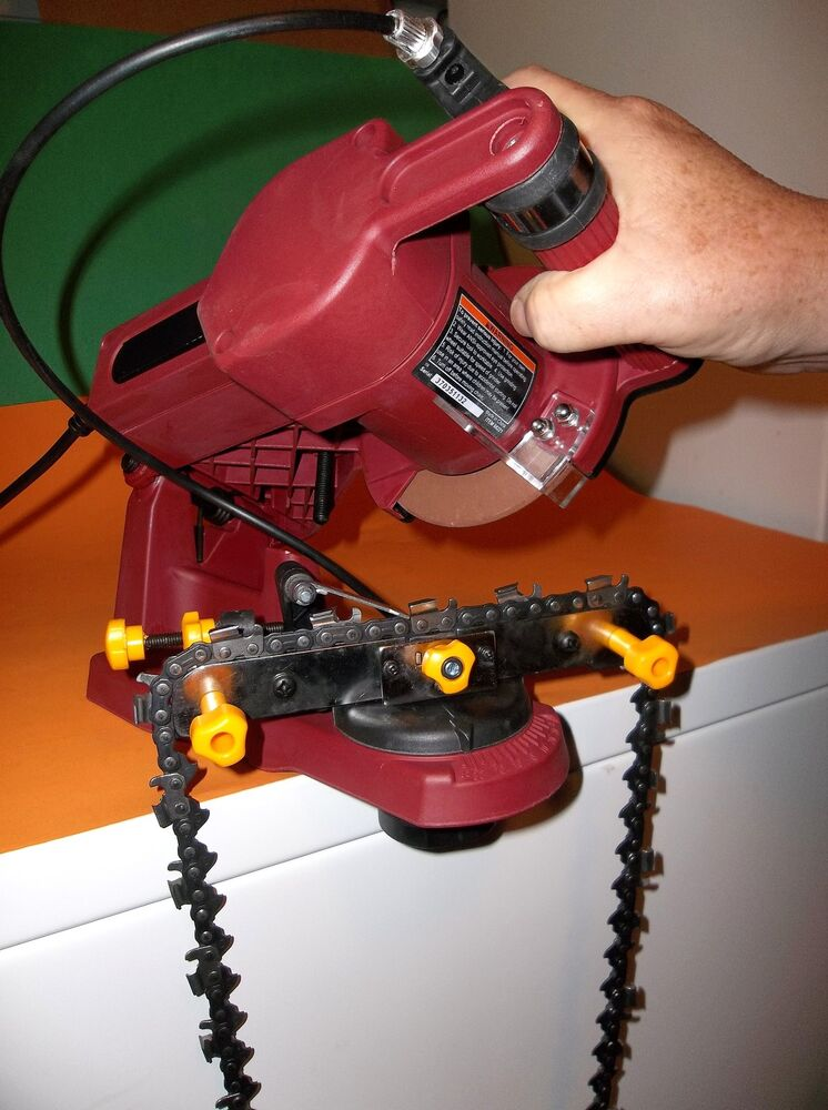 chainsaw chain sharpener mr ed s electric model 68221 chainsaw chain grinder 10686