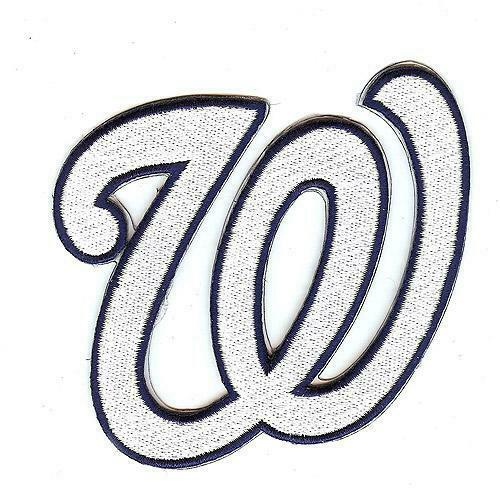washington nationals chest logo patch jersey w white