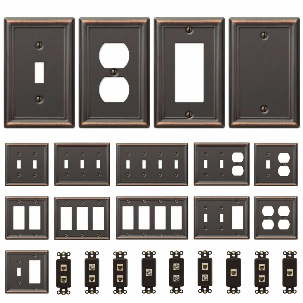 Bronze Wall Switch Plate Toggle Outlet Cover Rocker Duplex