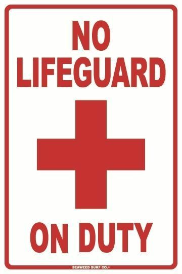Traffic Signs Wall Decor : No lifeguard on duty aluminum metal traffic parking road