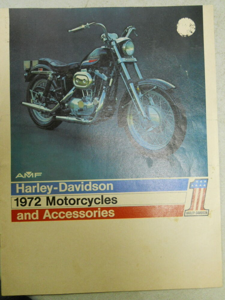harley davidson 1972 brochure motorcycles and accessories ebay. Black Bedroom Furniture Sets. Home Design Ideas