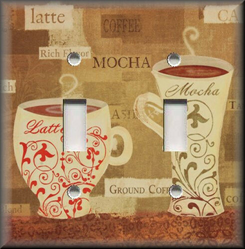 Light Switch Plate Cover Cafe Coffee Latte Kitchen