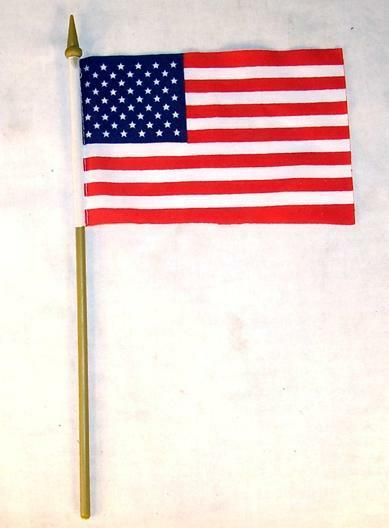 6 american flag on stick 4 x 6 inch united states of