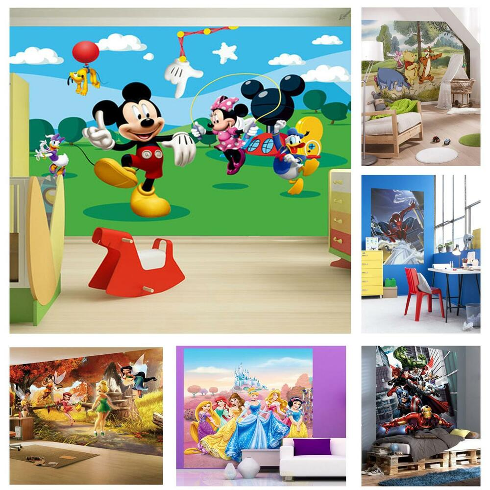 Childrens bedroom disney character wallpaper wall mural for Children s wall mural