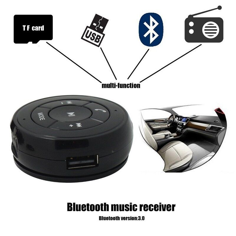 car wireless bluetooth phone music receiver adapter aux tf. Black Bedroom Furniture Sets. Home Design Ideas