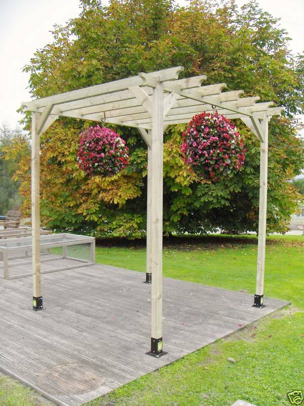 Beautiful x pergola timber only kit ebay for Rustic gazebo kits