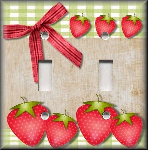 Light Switch Plate Cover Country Kitchen Strawberries
