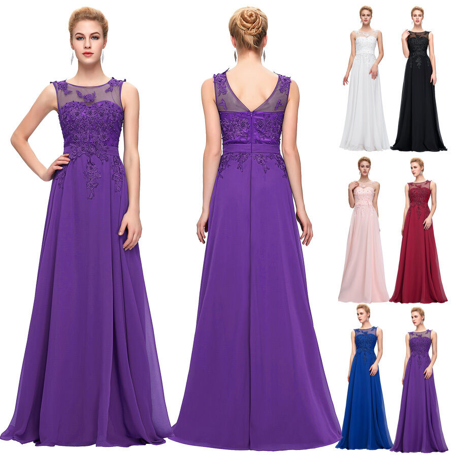 Plus size applique prom dresses party long evening dresses for Plus size wedding party dresses