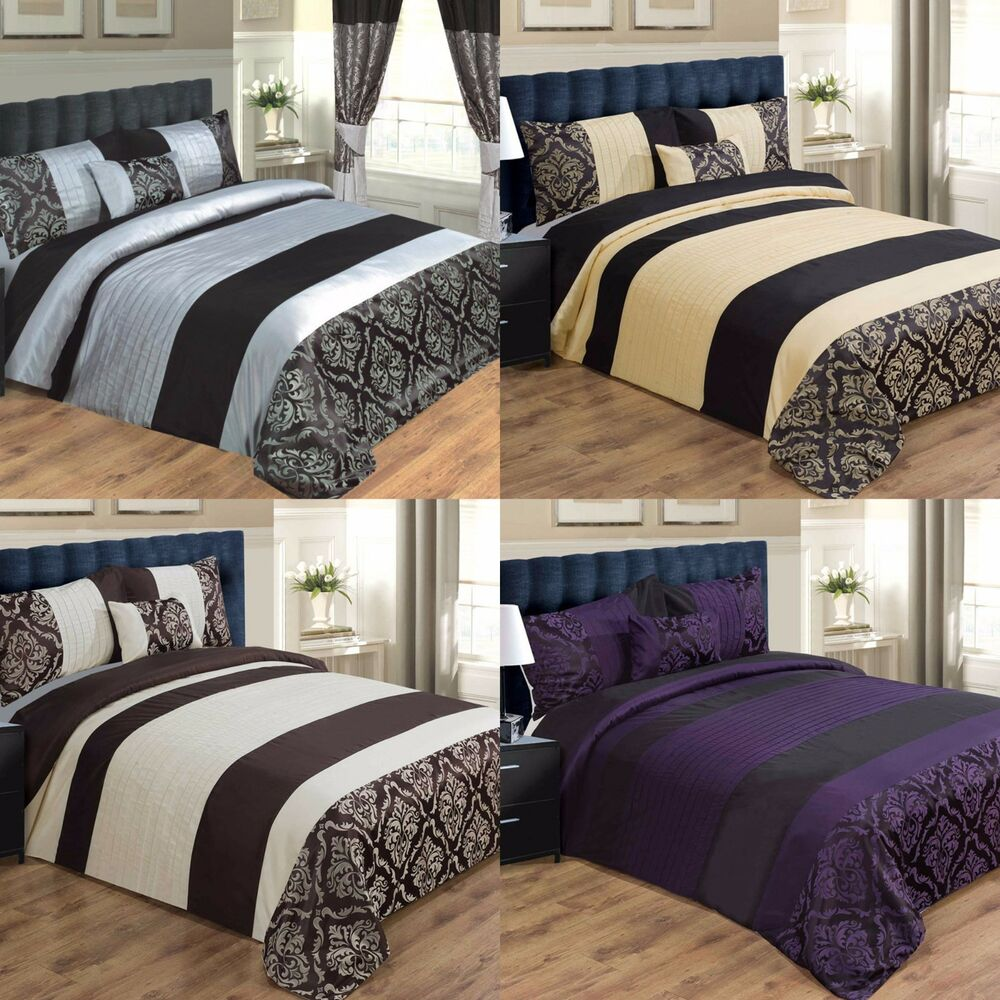 LUXURY DUVET COVER BED SET INC PILLOWCASES & CUSHION
