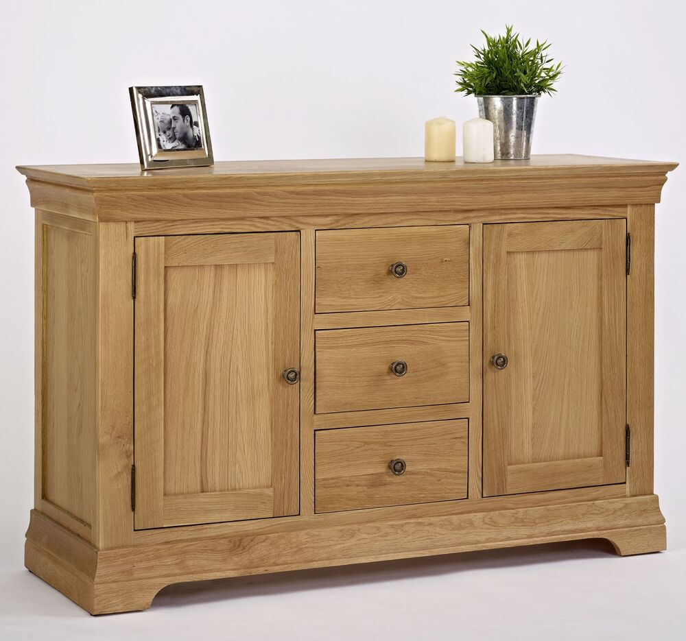 Morea Solid Oak Living Dining Room Furniture Large Storage Sideboard EBay