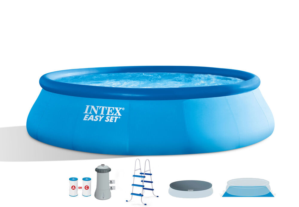 Intex 15 39 x 42 easy set pool complete kit with gfci 1000 gph filter pump ebay - Intex pool set aldi ...