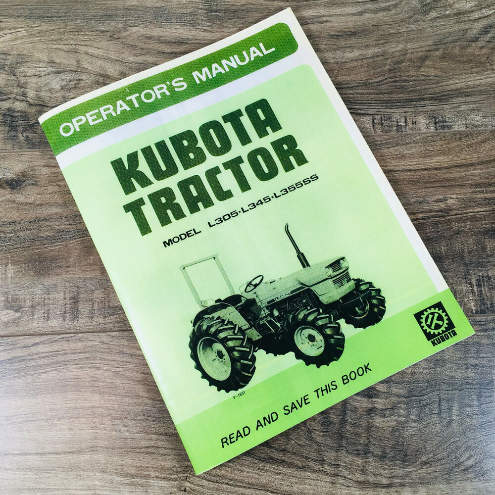Kubota Tractor Owners Manual : Kubota l dt ss tractor operators