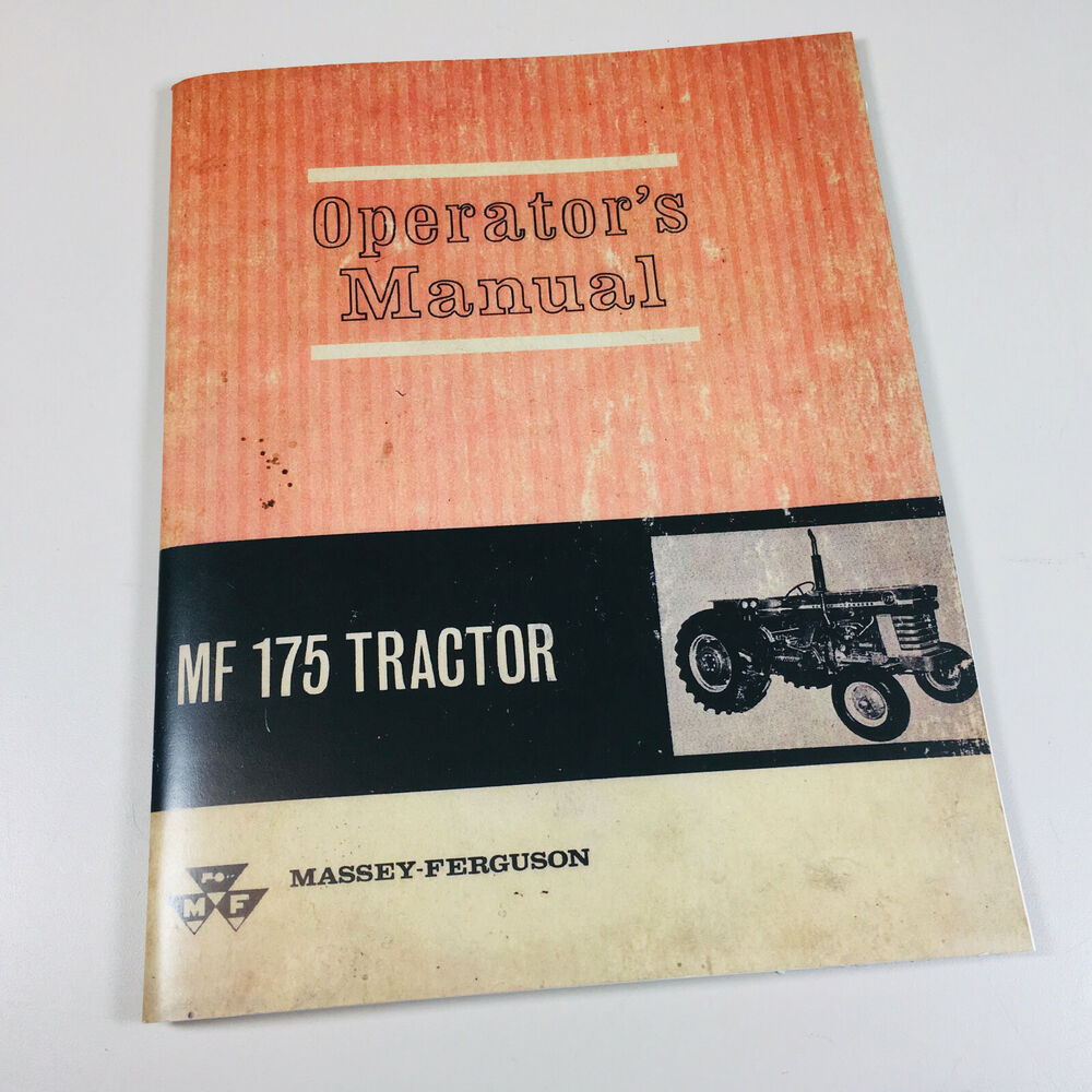 Tractor Manual Thickness : Massey ferguson mf tractor operators owners manual