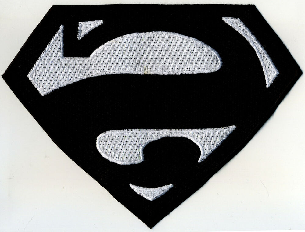 7 X 10 Fully Embroidered Superman Bizarro Chest Logo Patch