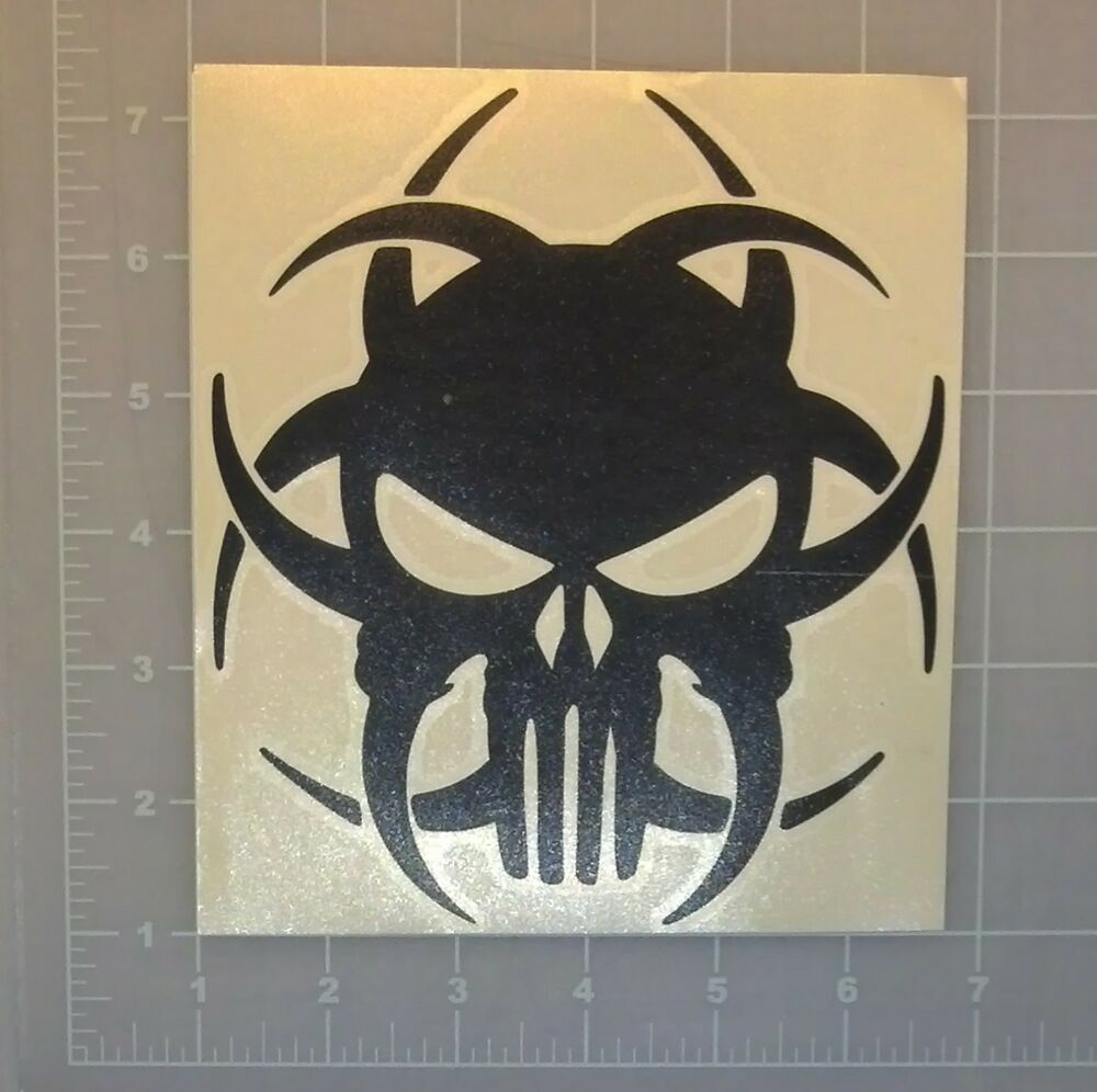 Punisher Biohazard Skull Symbol Decal Sticker Zombie