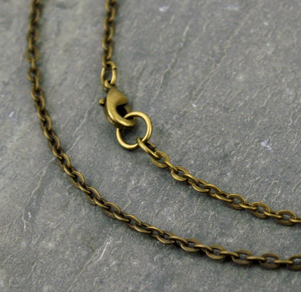 antique bronze plated link cable chain necklace chains