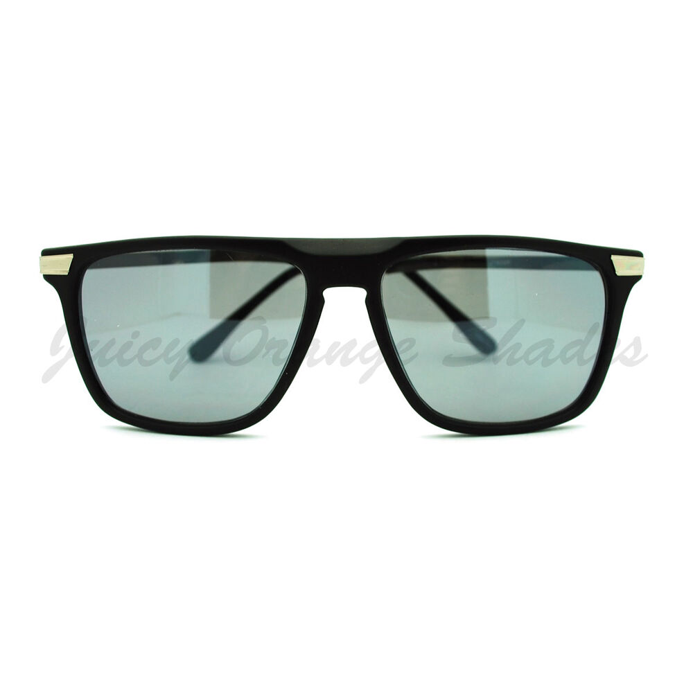 Thin Framed Fashion Glasses : Flat Top Thin Square Frame Sunglasses Unisex Casual ...