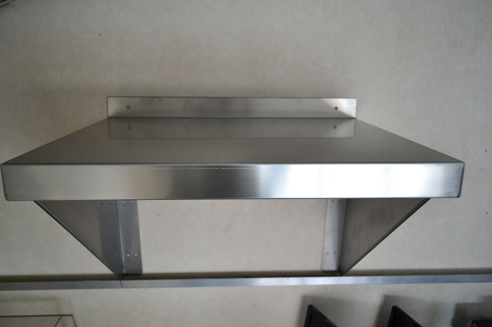 New ace stainless steel wall shelf 600mm x 300mm with for 200mm kitchen wall unit