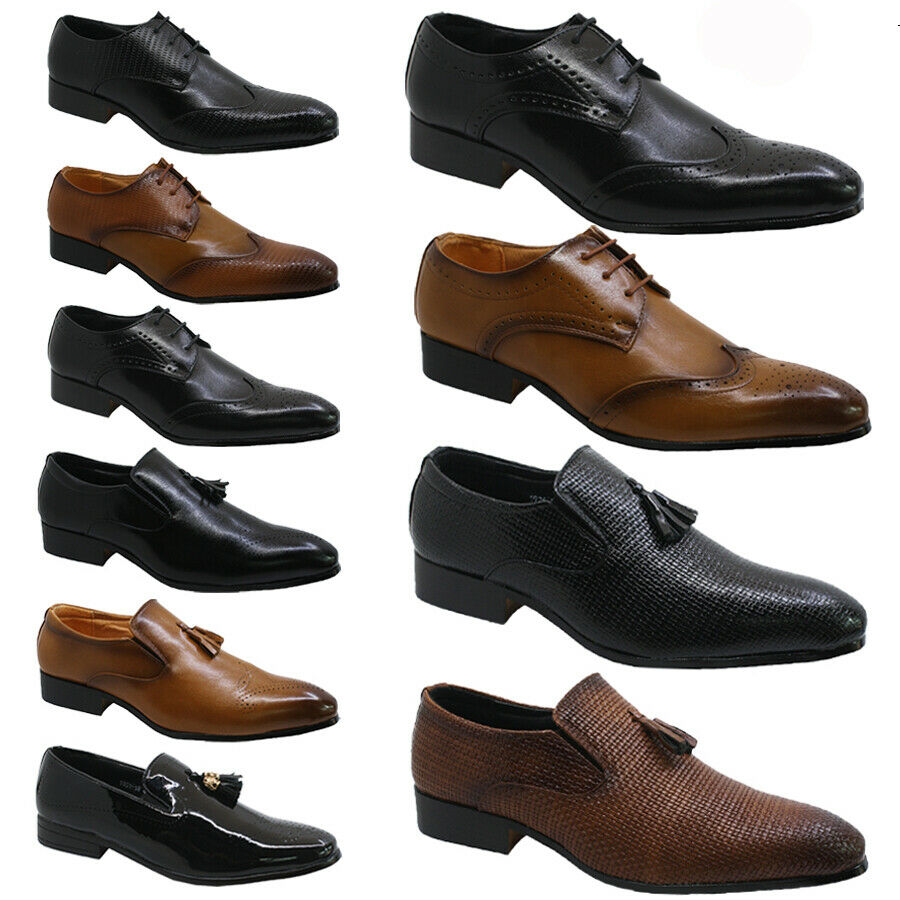 men wedding shoes new mens boys wedding shoes italian formal dress office 5784