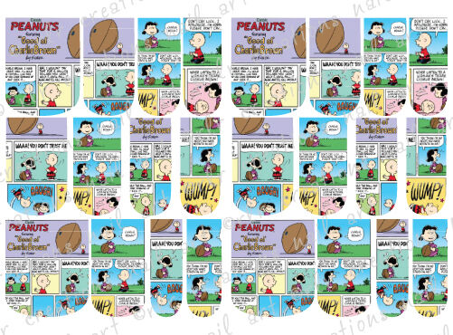 24 Water Slide Nail Art Decals Good Ole Charlie Brown