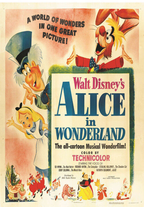 Alice in Wonderland Disney cartoon movie poster print #38 ...