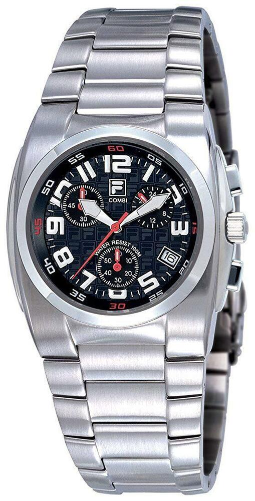 Fila combi chronograph gents all stainless steel sports watch fa0500 61 ebay for Fila watches