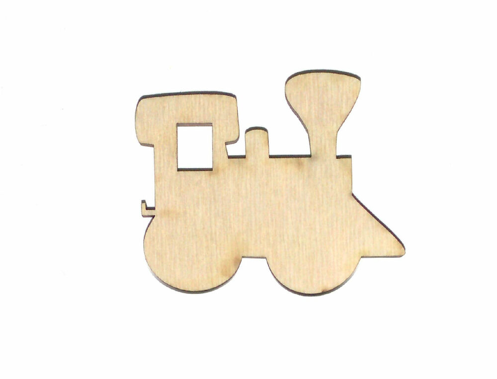 Toy Train Unfinished Wood Shape Cut Out TT4027 Crafts