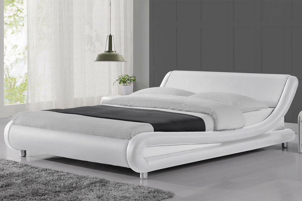 Modern stylish cool italian designer bed frame double king for Designer bed pics