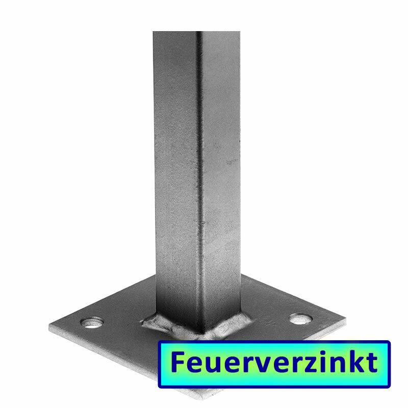 universal metallpfosten profil 30x30mm h he 1020mm 100654 pfosten metall zaun ebay. Black Bedroom Furniture Sets. Home Design Ideas