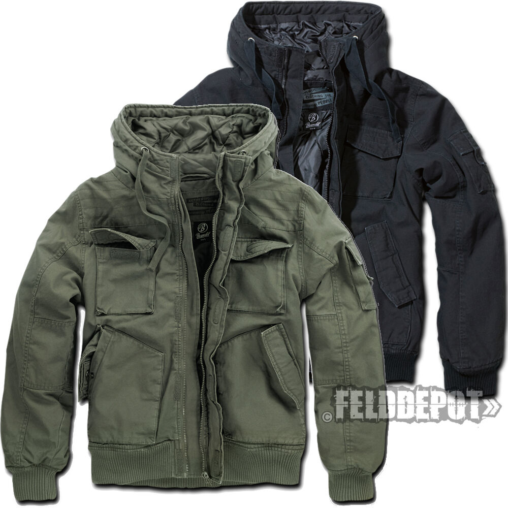 brandit bronx jacket vintage herren jacke blouson winterjacke ebay. Black Bedroom Furniture Sets. Home Design Ideas