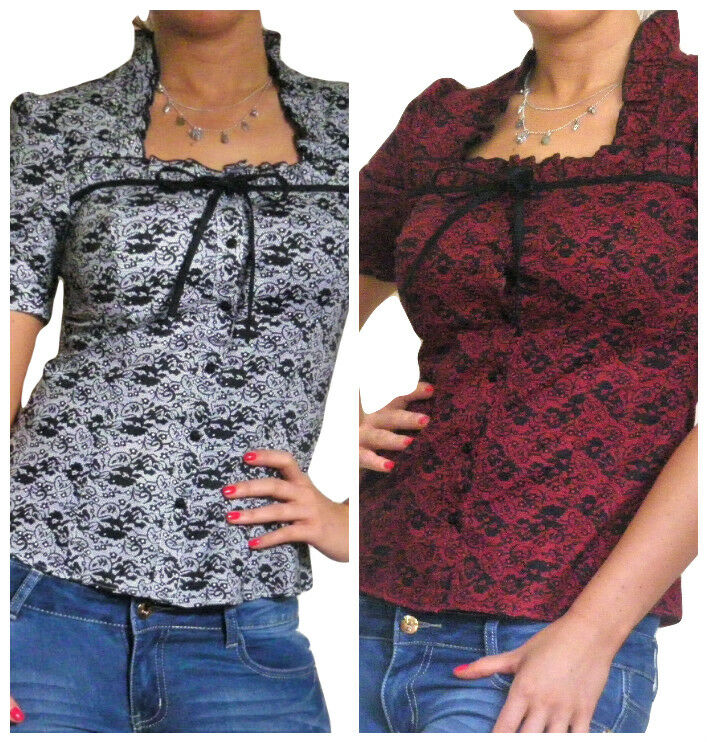 Blouse Ladies Shirt Tops Short Sleeve Lace Women Top New