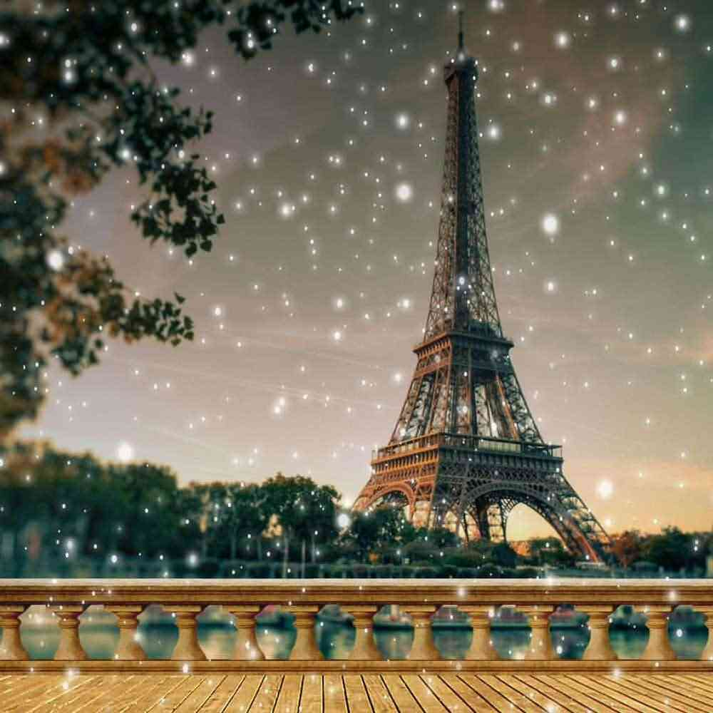 Eiffel Tower 10'x10' CP Backdrop Computer Printed Scenic