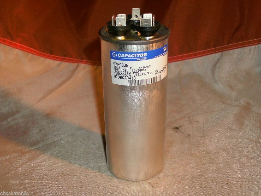 Ge General Electric 97f9838 Dielektrol Dual Run Capacitor