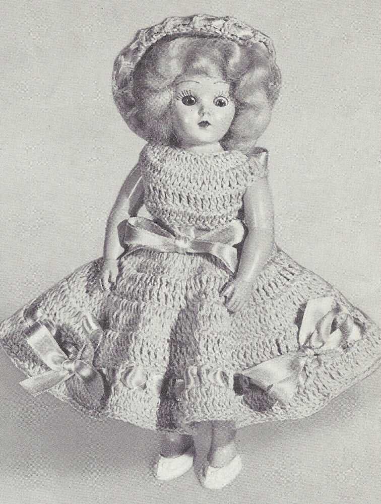 Vintage Crochet Pattern to Make 8 inch Doll Clothes ...