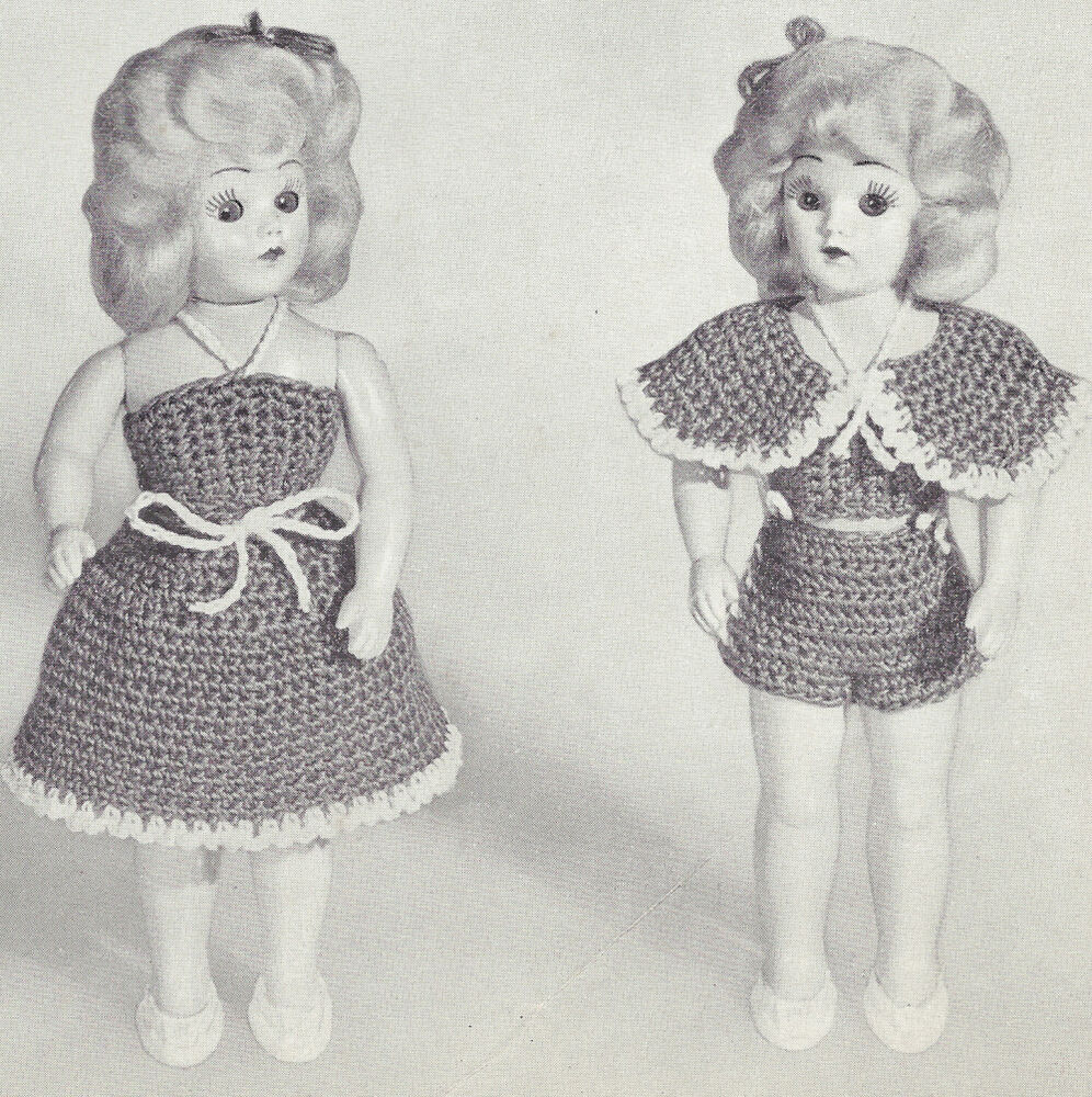 Amigurumi Christmas Tree Pattern Free : Vintage Crochet Pattern to Make 8 inch Doll Clothes ...