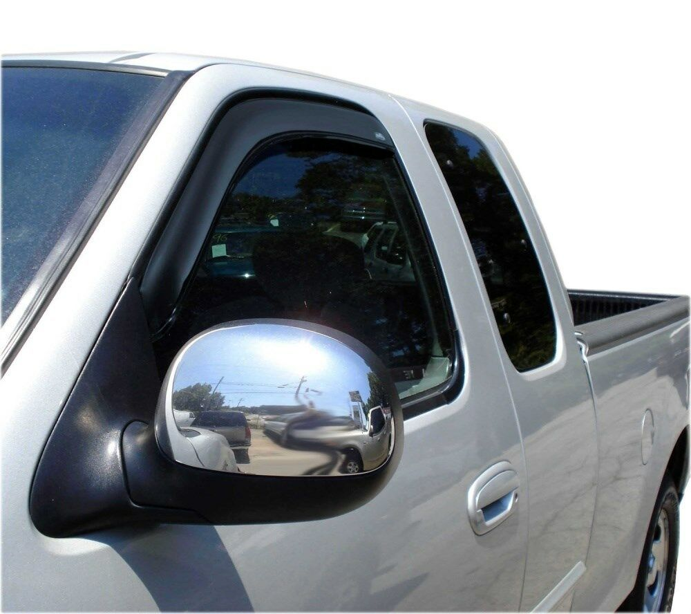 Avs 192754 in channel window ventvisor 2 piece smoke 1997 2003 ford f150 f250 ebay