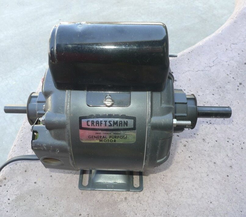 Craftsman double spindle 1 2 hp 1725 rpm motor for 1 hp electric motor for table saw