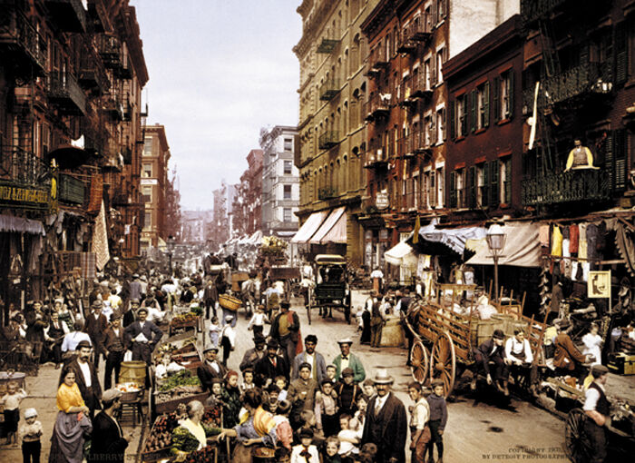 Mulberry Street Hells Kitchen 1900 New York City Poster Print EBay