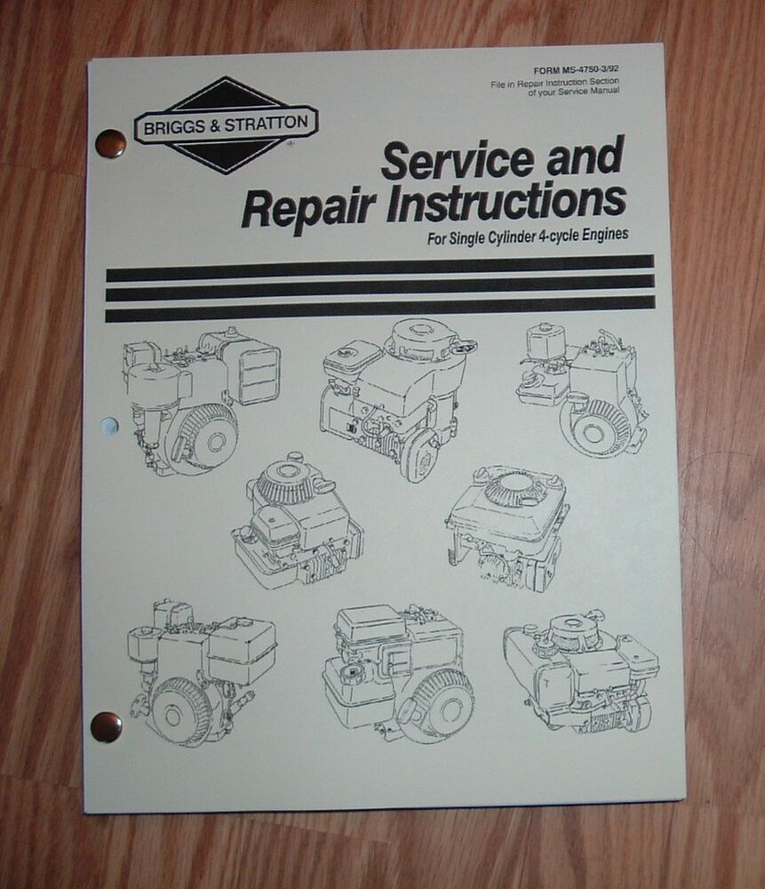 free service repair manual for briggs and stratton engine Briggs Stratton User Manual briggs and stratton 5hp engine service manual