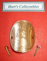 1945 WORLD WAR TWO COIN  KING GEORGE VI COPPER PENNY -WALKING STICK BADGE /MOUNT