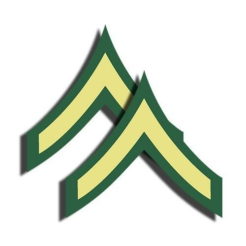 Army Rank Private E2 Sticker Military Dye Cut Decal Pv2