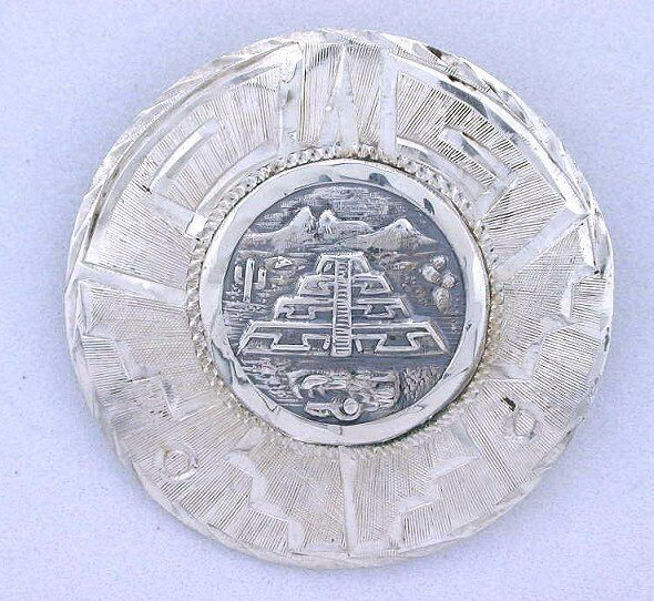 Pyramid Of Moon Teotihuacan Pyramid Mexico Sterling Silver