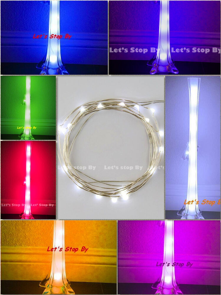 Led Fairy String Lights For Eiffel Tower Vase : 10x LED Wire Wedding Submersible Eiffel Tower Vase Centerpiece Decorate Light eBay