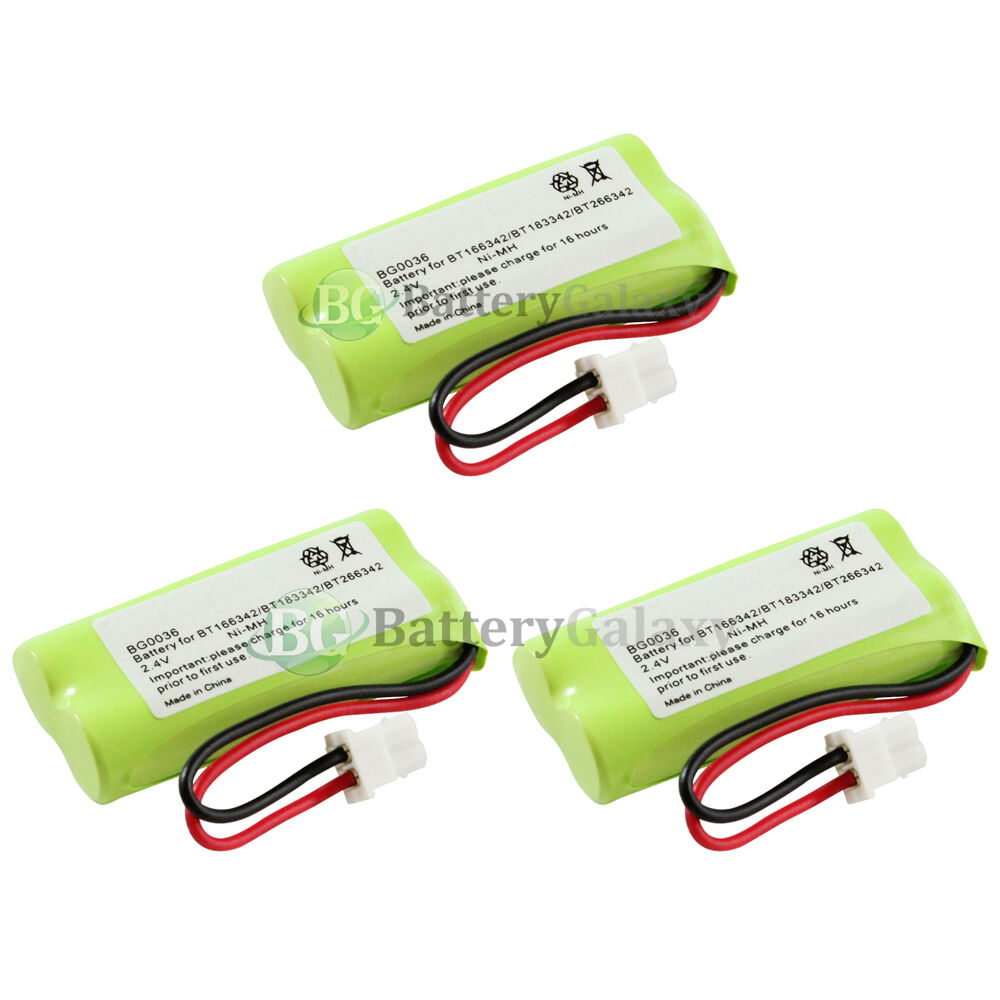 3 new oem bg0036 bg036 cordless home phone rechargeable replacement battery pack ebay. Black Bedroom Furniture Sets. Home Design Ideas