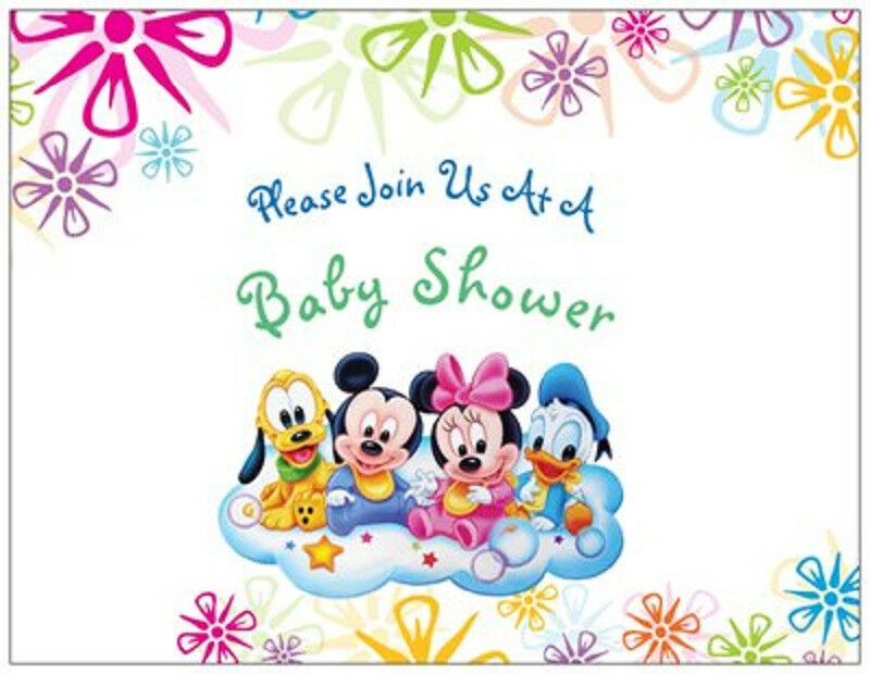 20 mickey minnie donald disney baby shower invitations envs seals