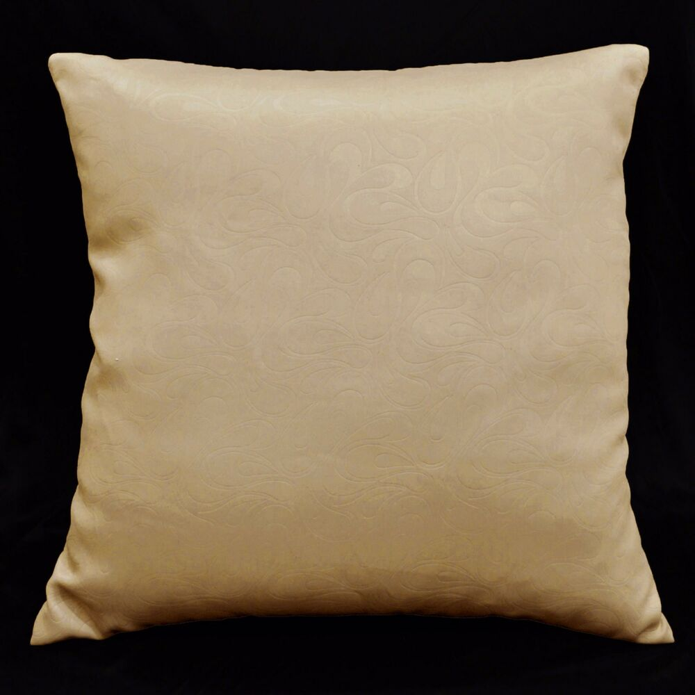 Throw Pillow Case Size : EC406 Tan Brown Embossed Paisley Throw Cushion Cover/Pillow Case*Custom Size eBay