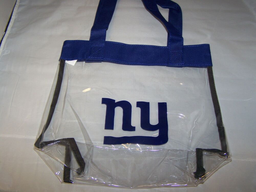 New York Giants Nfl Logo Clear Stadium Approved Tote Beach