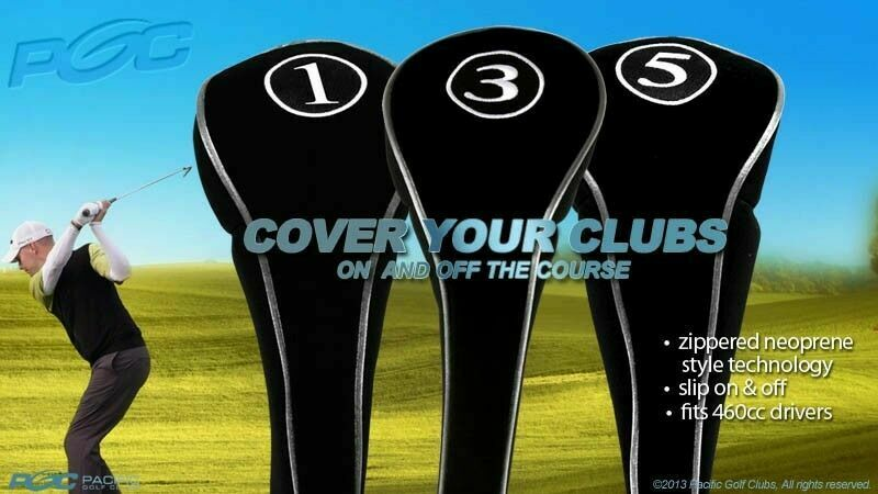 1 3 5 Woods New Set Golf Clubs Driver Head Covers Black