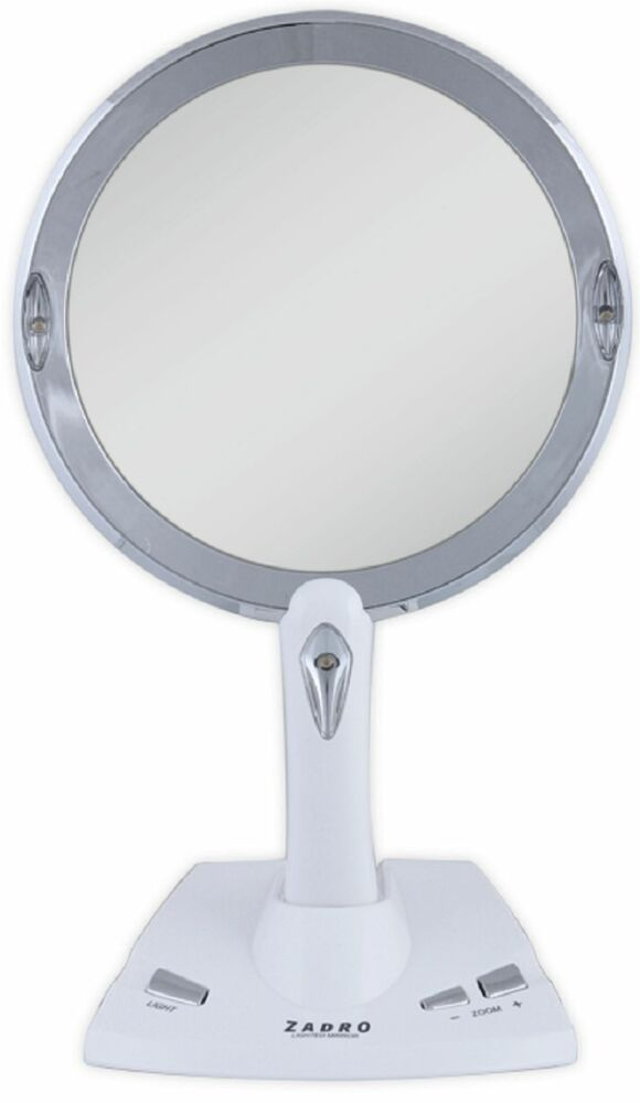Zadro 1X To 5X Magnification Power Zoom LED Lighted Vanity MakeUp Mirror PZV01 eBay